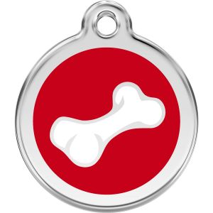 Red Dingo Diagonal Bone Pet ID Dog Tags
