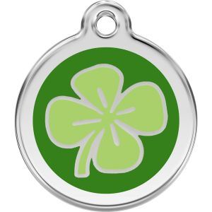 Red Dingo Clover Pet ID Dog Tags