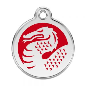 Red Dingo Dragon Pet ID Dog Tags