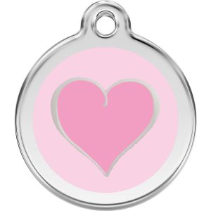 Red Dingo Pink Heart Pet ID Dog Tags