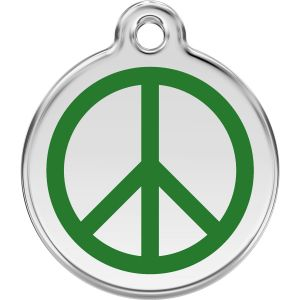 Red Dingo Peace Pet ID Dog Tags