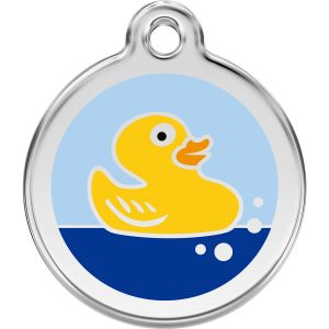 Red Dingo Rubber Duck Pet ID Dog Tags