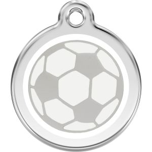 Red Dingo Soccer Ball Pet ID Dog Tags
