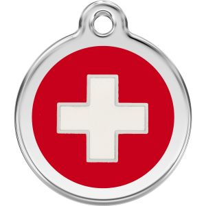 Red Dingo Swiss Cross Pet ID Dog Tags