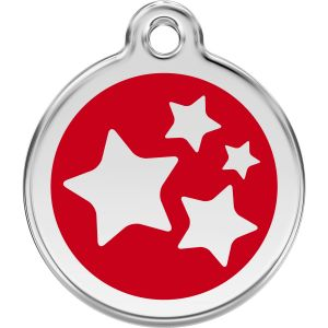 Red Dingo Stars Pet ID Dog Tags