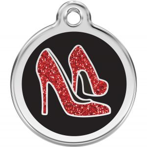 Red Dingo Glitter Heels Pet ID Dog Tags