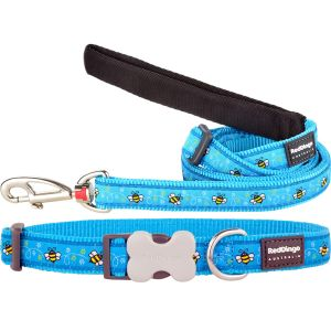 Bumble Bee Turquoise Collar or Leash
