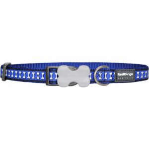 Reflective Bones Collars - Dark Blue