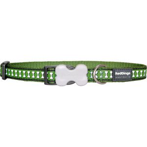 Reflective Bones Collars - Green