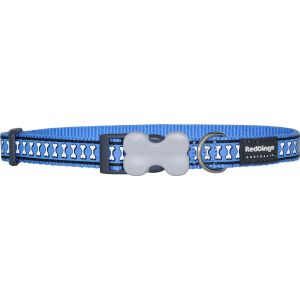 Reflective Bones Collars - Blue