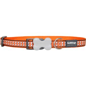 Reflective Bones Collars - Orange