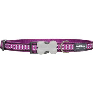 Reflective Bones Collars - Purple