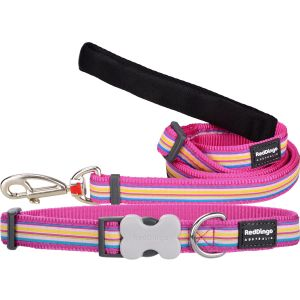 Horizontal Stripes Hot Pink Collar or Leash