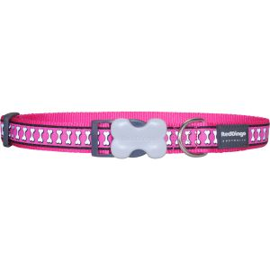 Reflective Bones Collars Hot Pink