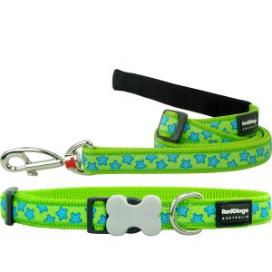 Stars Lime Green Collar or Leash or Harness