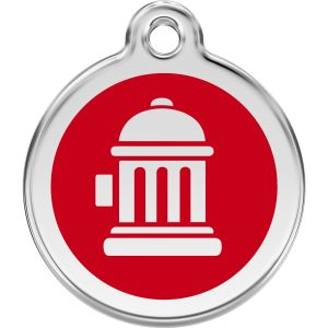 Red Dingo Fire Hydrant Pet ID Dog Tags