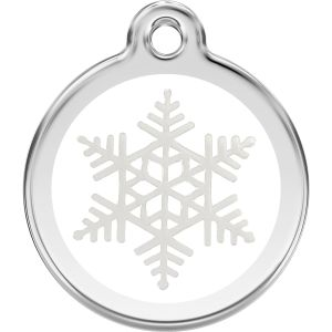 Red Dingo Snowflake Pet ID Dog Tags