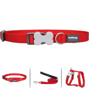 Classic Red Collar or Martingale or Leash or Harness