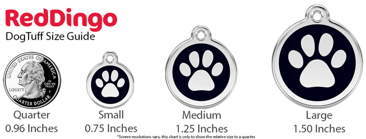 Red Dingo Pet ID Size Guide